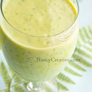 Pineapple Mango Green Smoothie Recipe