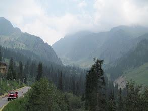 Photo: Road above Shymbulak
