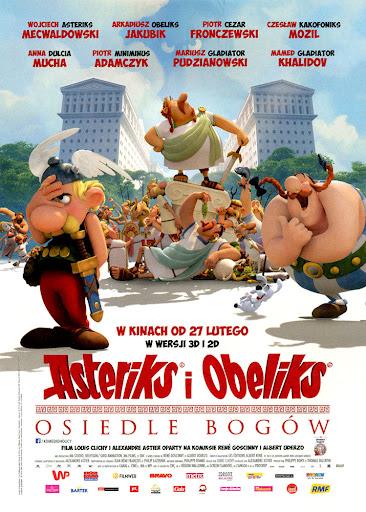Przód ulotki filmu 'Asteriks i Obeliks: Osiedle Bogów'
