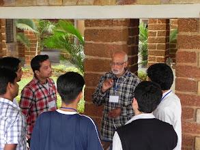 Photo: Dr. Sachin teaching us techniques