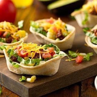 Mini Taco Salad Boats.