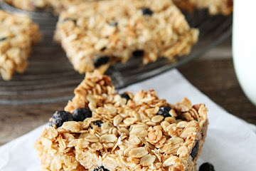 Blueberry Coconut Granola Bars
