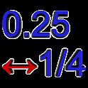 Decimal↔Fraction icon