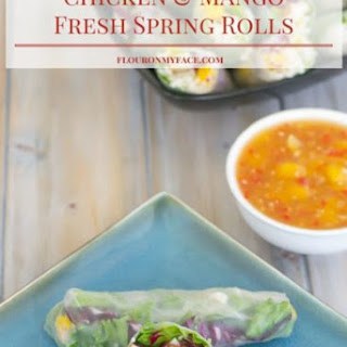 Chicken Mango Fresh Spring Rolls