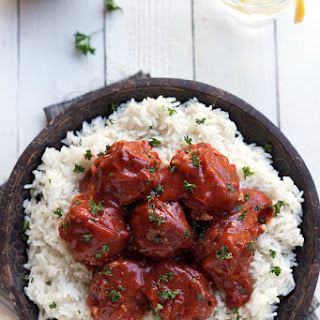 {Slow Cooker} Porcupine Meatballs over Rice