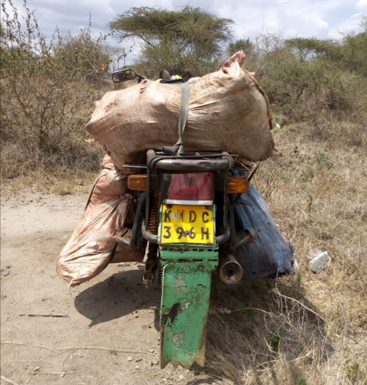 A motorcycle ferrying game meat weighing approximately 300 kgs was recovered in Kajiado during an operation from a multi-agency team.