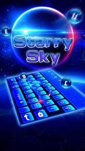 Téma klávesy Starry Sky - náhled