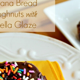 Banana Bread Doughnuts with Nutella Glaze