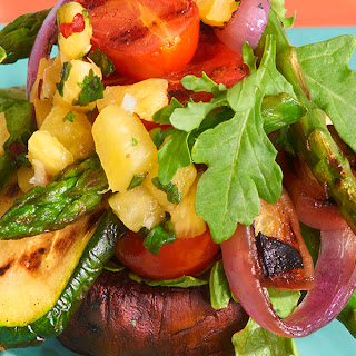 Grilled Vegetable Stacks with Pineapple Chimichurri Recipe