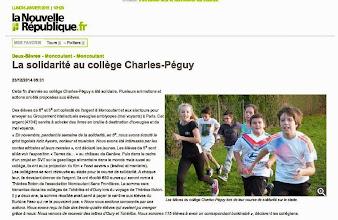 Photo: 2014-12-23 NR La solidarité au collège Charles Péguy