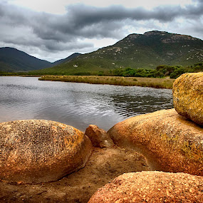 Tidal River by Gary Parnell - Landscapes Waterscapes ( tidal river, wilson's prom, rocks )