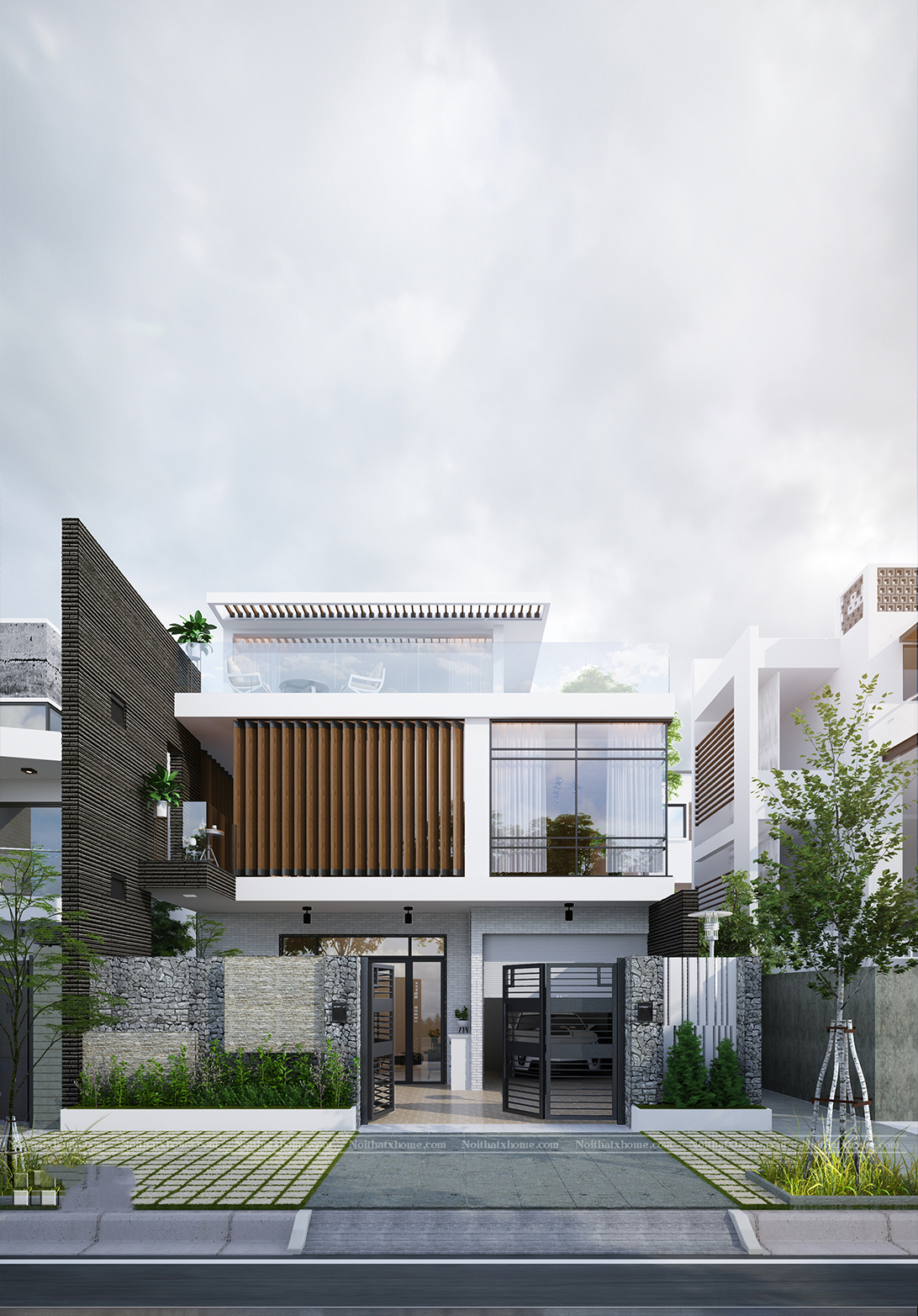 thiết kế nhà hiện đại