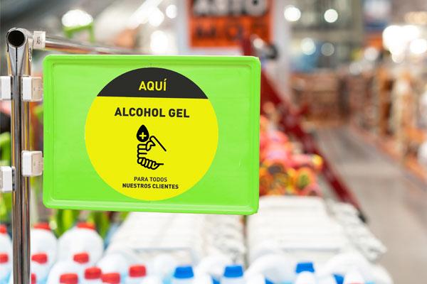 dhesivo alcohol gel laminado 20 cm de diametro