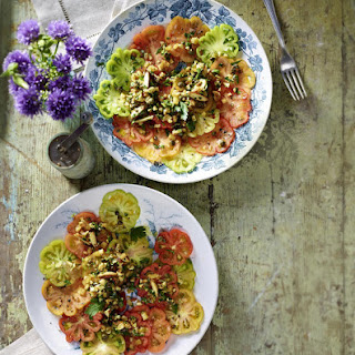 Mixed Tomato Salad with Almond Crumble