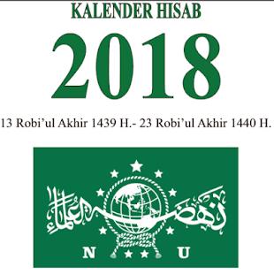 KALENDER NU HISAB 2018 - náhled