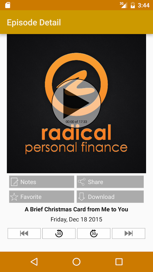 Radical Personal Finance- screenshot
