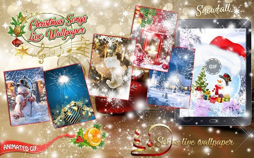 Christmas Songs Live Wallpaper with Music ud83cudfb6 2.8 screenshots 11