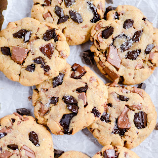 Thick & Chewy Peanut Butter Chocolate Chunk Cookies.