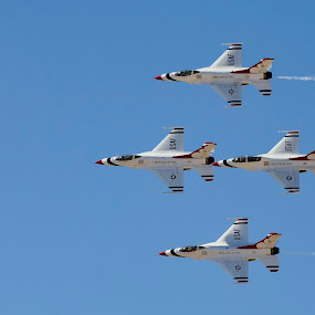 Thunderbird Diamond by Brent Dreyer - Uncategorized All Uncategorized ( luke afb, f-16, flyby, formation, airshow, thunderbirds,  )