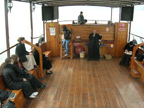 Photo: on a boat in the Sea of Galilee