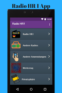 Radio HR 1 App - náhled