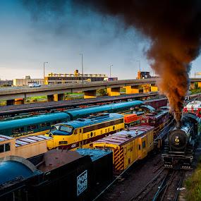 #28 by Glen Sande - Transportation Trains ( steam locomotive, duluth, mn, #28, train, train yard, tours )