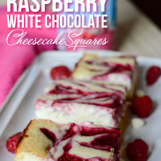 Raspberry White Chocolate Cheesecake Squares