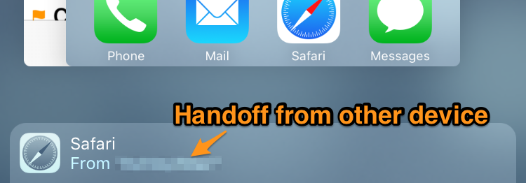 Handoff from other device.