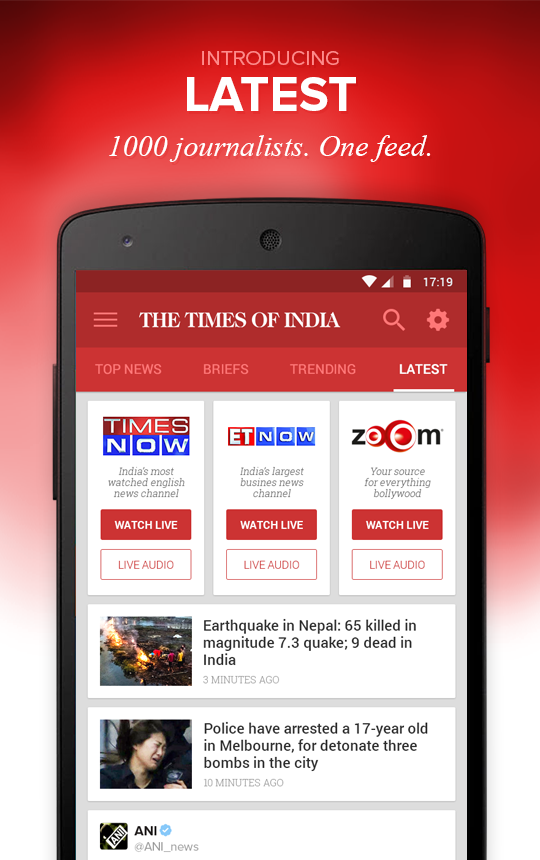 The Times of India News- screenshot