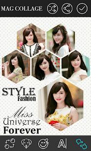 Magazine Photo Collage Frame screenshot