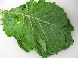 Cut The stem off of the bunch of Collards all the way up to...