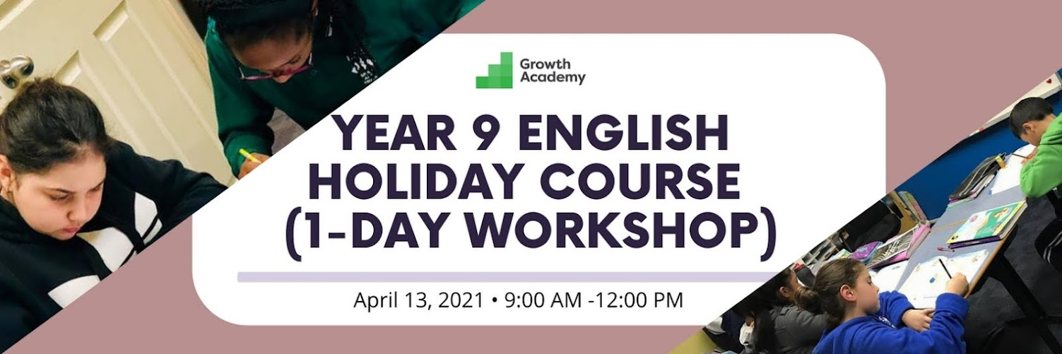 Year 9 English Holiday Course (1-day workshop)