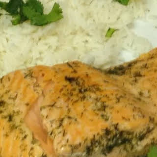 Poached Salmon In The Microwave.