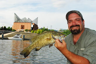 Photo: May 6, 2012 - Joe DiPietro caught this nice smallmouth in the shadow of the famous Tennessee Aquarium.