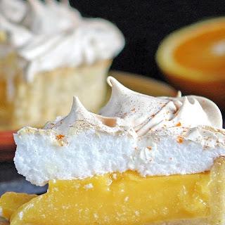 Orange & Lime Meringue Pie with Lime & Walnut Pastry