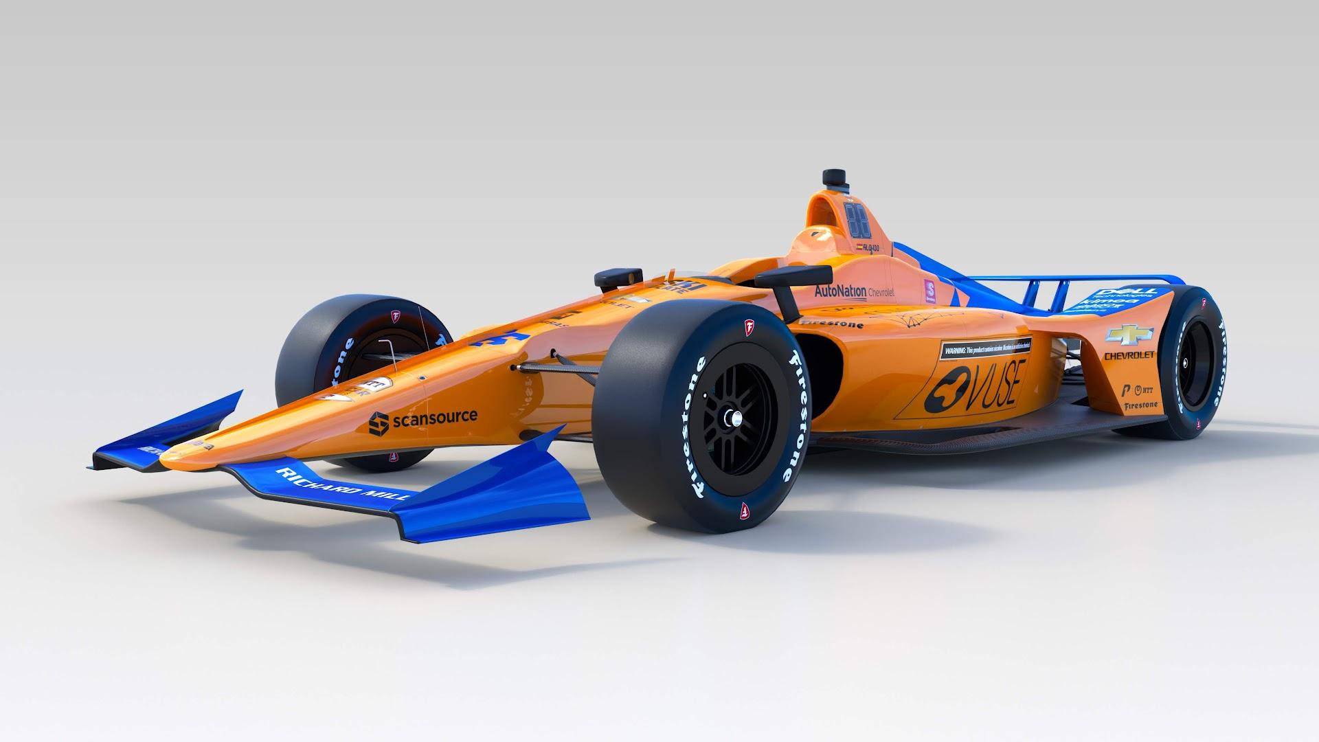 マクラーレン2019インディ500カラーリング