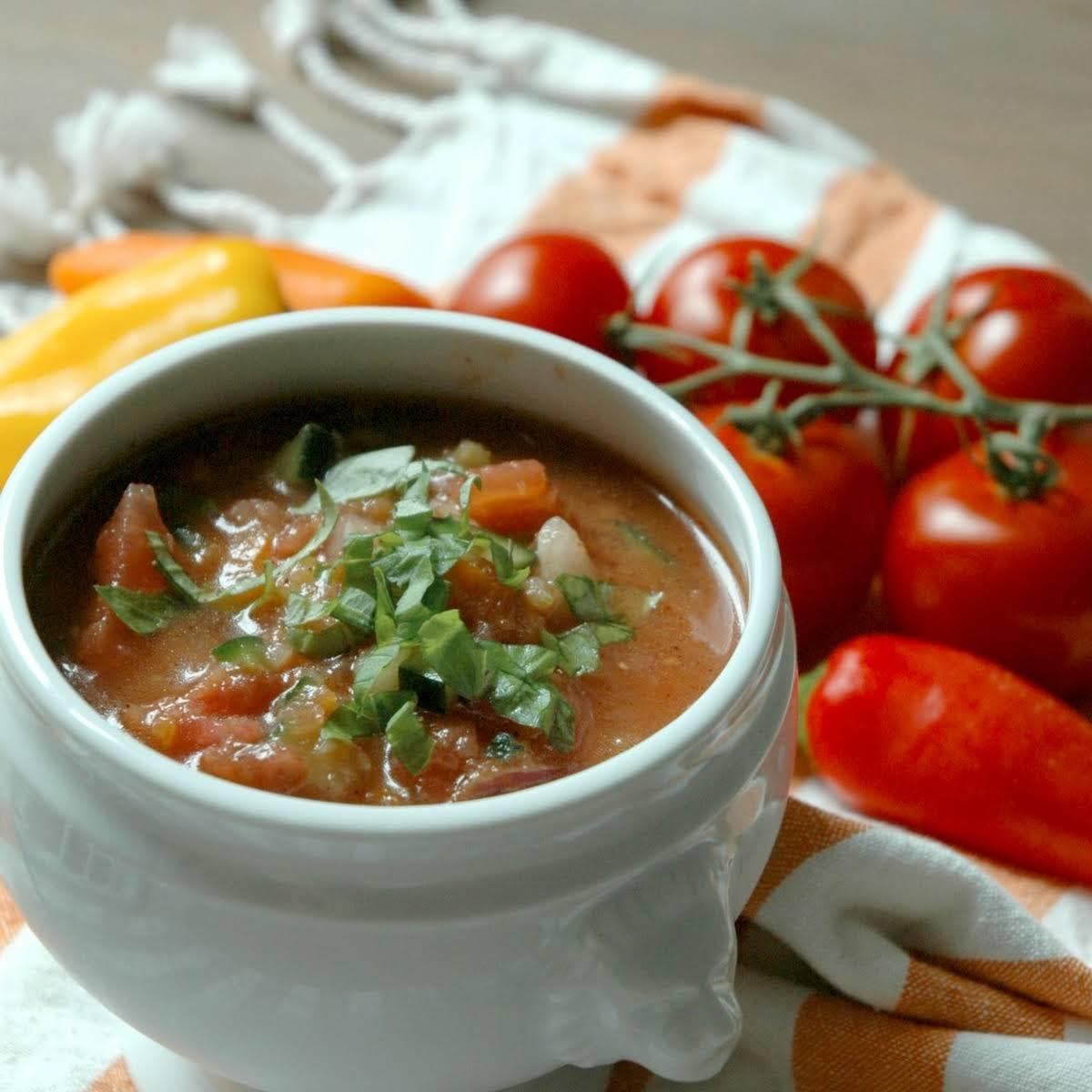 Farm  buoyant Gazpacho Soup