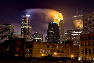 Photo: Looks like one of the buildings is draining energy from the other