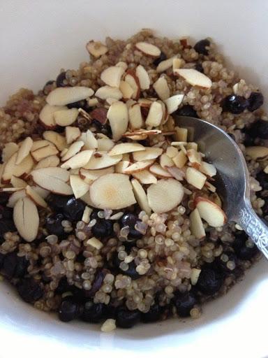 Blueberry Almond Breakfast Quinoa