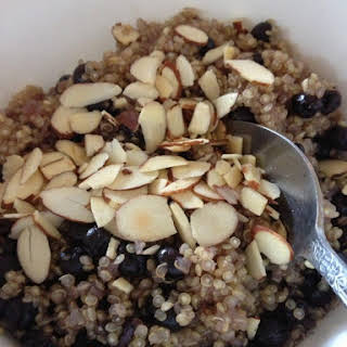 Blueberry Almond Breakfast Quinoa.