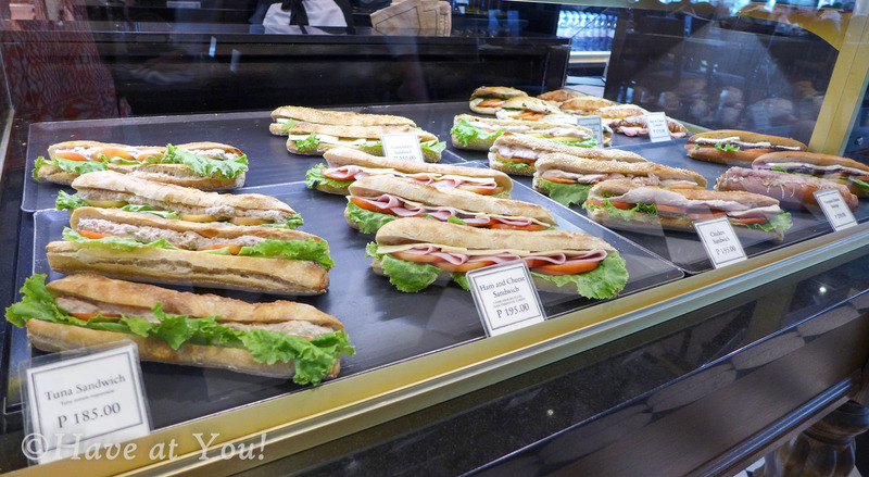 sandwiches display
