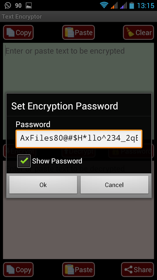 AES Message Encryptor for SMS- screenshot