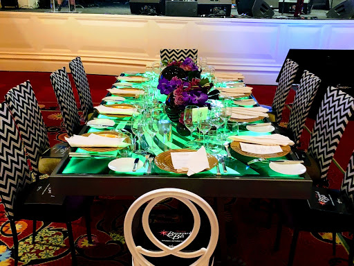 Customized table By Dzign for Tim Burton at the Wynn.  We are the source for all you event needs. Event planning, furniture rental, event design, floral design, event rentals all in house.