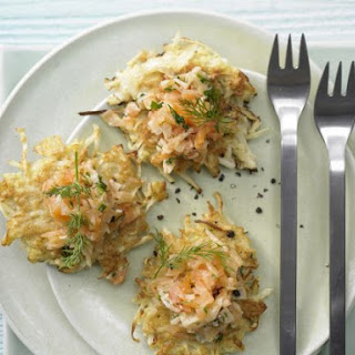 Salmon Tartare on Celery Root Fritters Recipe