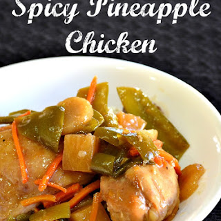 Slow Cooker ~ Spicy Pineapple Chicken.