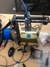 Photo: Printing a smaller MOG maze.