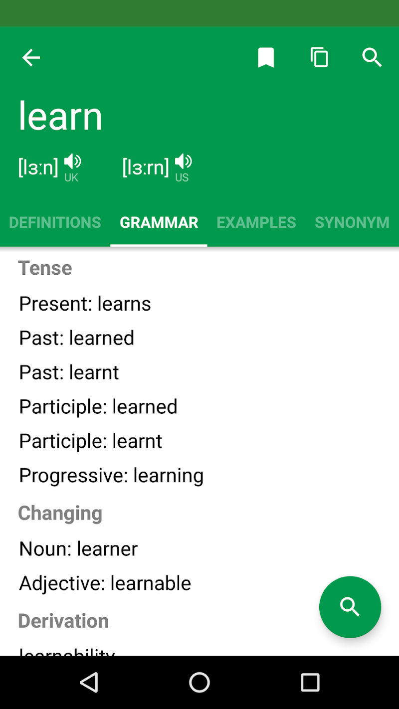 Erudite Dictionary, Translator & Widget Screenshot 3