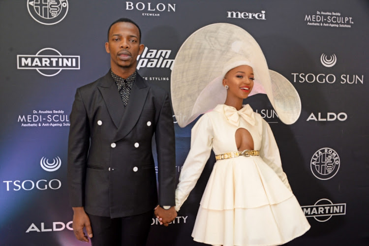 Zakes Bantwini and Nandi Madida during the SA Style Awards on November 18, 2018 in Johannesburg.