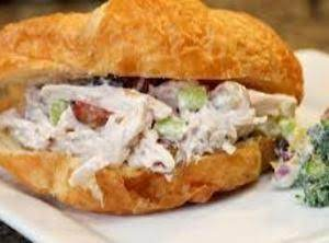 This Is It Croissant Chicken Salad Sandwich Recipe Just A Pinch