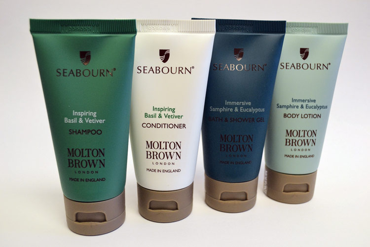 London-based Molton Brown has partnered with Seabourn to create a collection of signature scents distributed free of charge on all its ships.